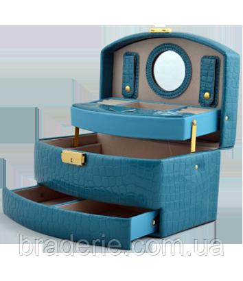 Шкатулка для украшений,ювелирных изделий,бижутерии 8965 (голубая), фото 2