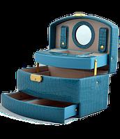 Шкатулка для украшений,ювелирных изделий,бижутерии 8965 (голубая)