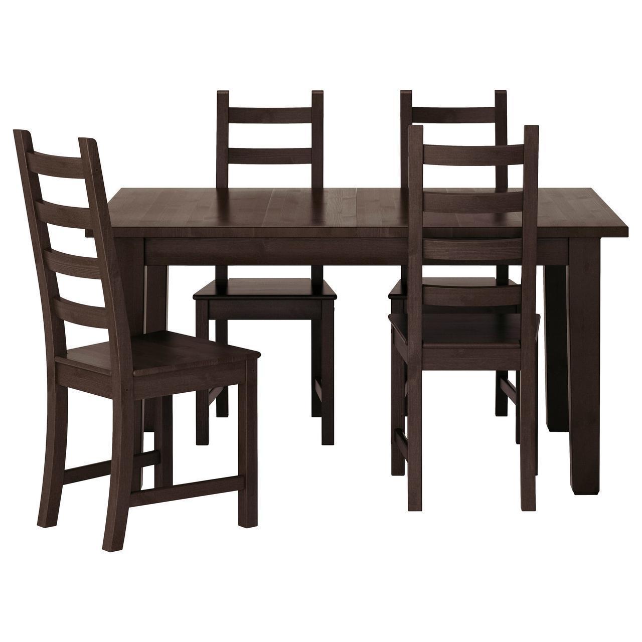 IKEA STORNAS/KAUSTBY Стол и 4 стула, коричневый-красный  (798.980.66)