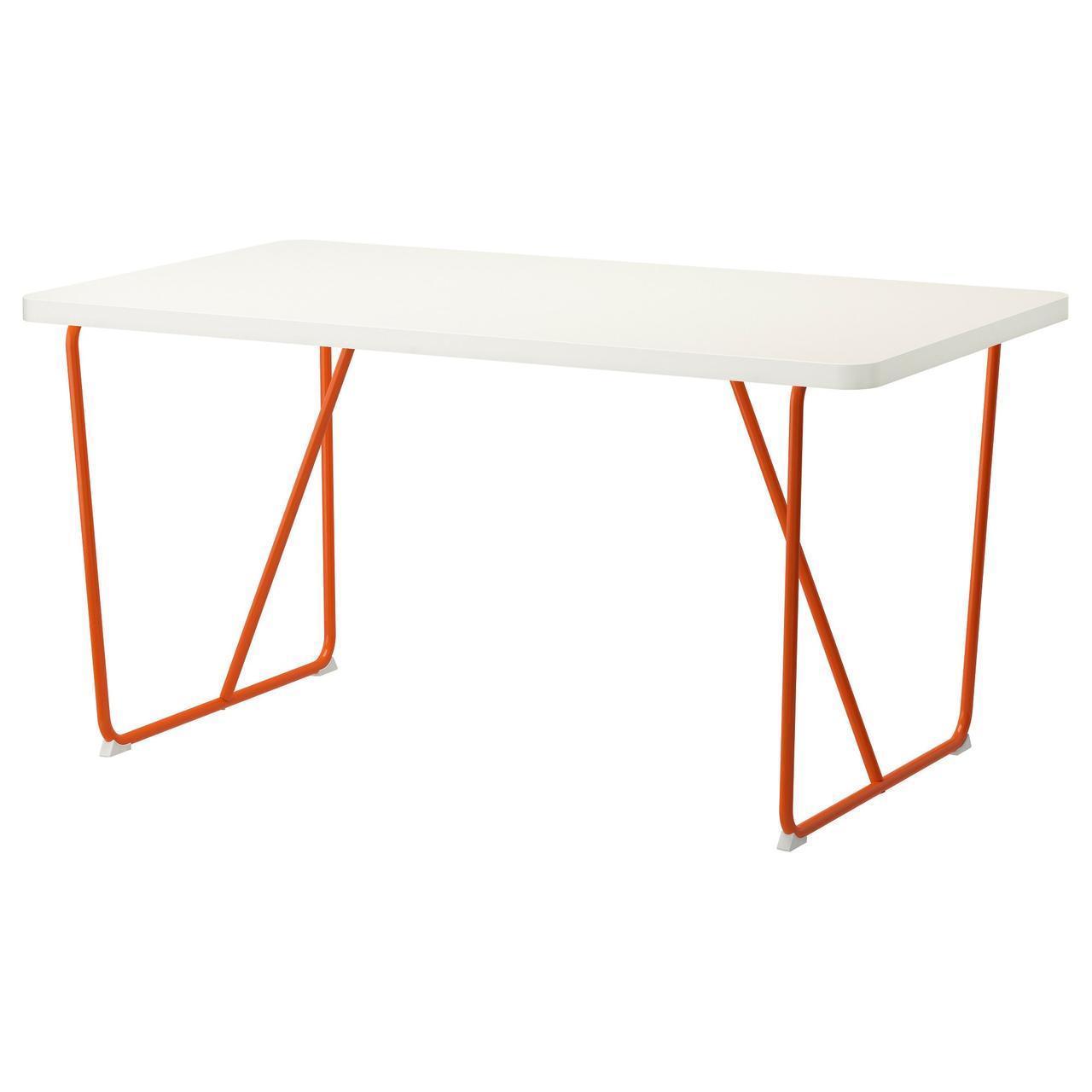 IKEA RYDEBACK Стол, оранжевый белый, бэккарид белый оранжевый  (691.406.92)