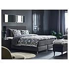 IKEA DUNVIK Кровать, Хoвaг жесткий, Tustna темно-серый  (091.671.18), фото 6