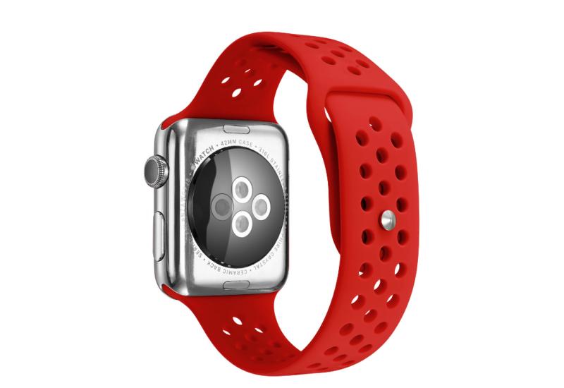 Ремешок Grand для смарт-часов Apple Watch 38 мм Sport Red (AL1520_38mm)