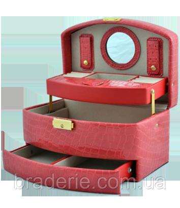 Шкатулка для украшений,ювелирных изделий,бижутерии 8965 (розовая), фото 2