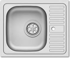 Мойка для кухни накладная прямоугольная 500х600х135 Asil Krom 0.4 50x60 матовая