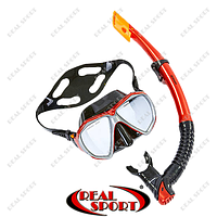 Набор для плавания маска с трубкой M307-SN124-SIL