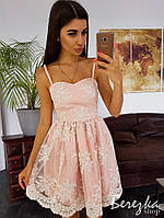 Кружевное платье с пышной юбочкой, фото 1