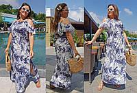 Платье женское летнее нарядное большие размеры Г04033, фото 1