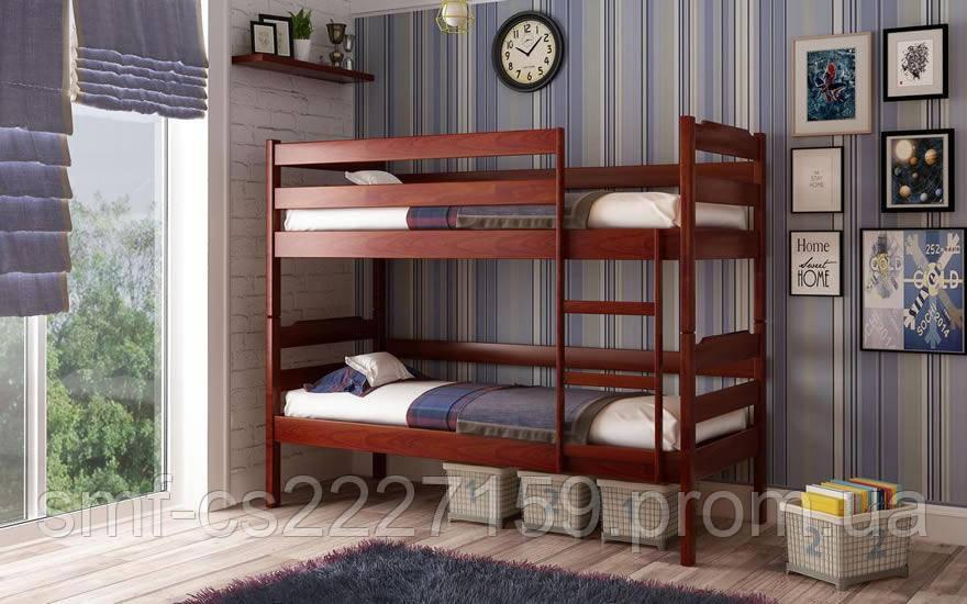 """Ліжко двоповерхове ( масиву бука.) """"Мілена - 2"""" з натурального дерева"""