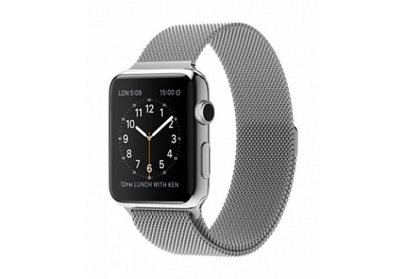 Ремешок Grand для смарт-часов Apple Watch 42mm Milanese Loop magnetic Silver (AL845_42mm)