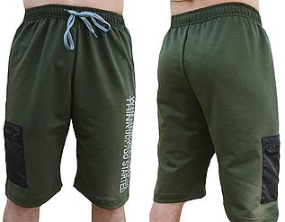 Спортивные шорты мужские летние трикотажные, хаки