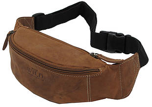 Кожаная сумка на пояс  Always Wild WB01STL коричневая