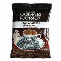 Турецкий кофе молотый Kurukahveci Nuri Toplar с мастикой 100 г