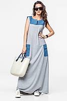 Длинное трикотажное летнее платье