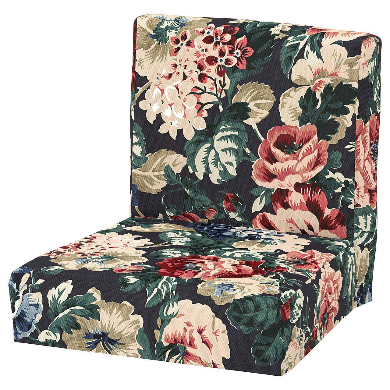 IKEA HENRIKSDAL Чехол для сиденья барного стула, Лингбо многоцветный  (604.379.23)
