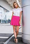 Короткая юбка с воланом фуксия, фото 2