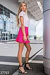 Короткая юбка с воланом фуксия, фото 3