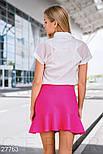 Короткая юбка с воланом фуксия, фото 4