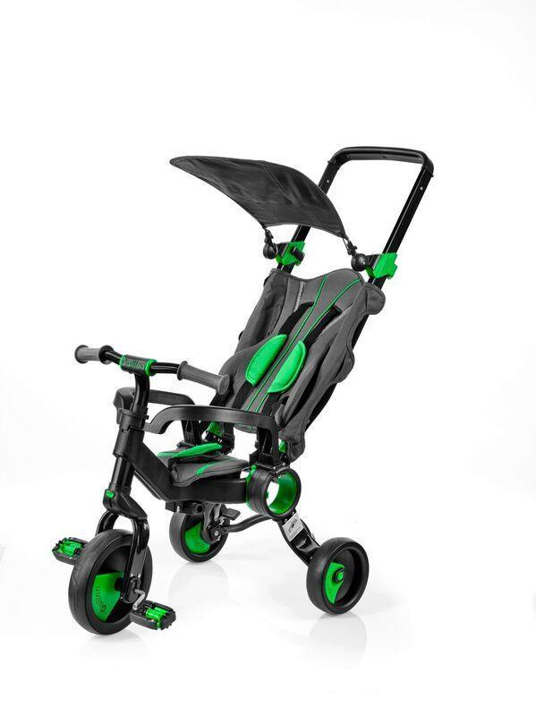 Galileo - Трехколесный велосипед Strollcycle (Black & Green)