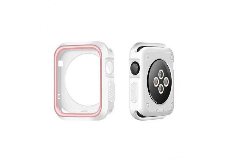Чехол Grand для смарт-часов Apple Watch 38mm Silicone Pink/Grey (AL1303_38mm)