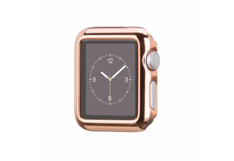 Чехол HOCO для смарт-часов Apple Watch 38mm Defender Series Plating Rose Gold (AL893_38mm)