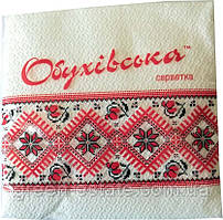 Серветки паперові одношарові ТМ Обухівська 23*24 (40 шт.)