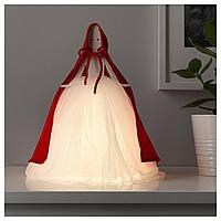 IKEA STRALA Настольная светодиодная лампа, девушка красная, белая  (904.089.24)