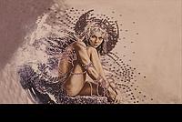 Вышивание картин на ткани бисером FLF-005Девушка ангел20*30 Волшебная страна качественный