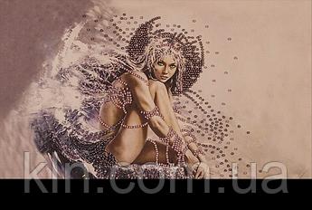 Вишивання картин на тканини бісером FLF-005 Дівчина ангел 20*30 Чарівна країна якісний