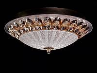 Настенно-потолочный светодиодный светильник хром/золото 30 см , фото 1