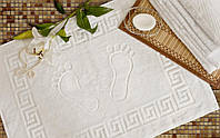 Полотенце для ног Luxyart, 50*70 см 550 гр/м2, с греческим рисунком, белый (L-1630)