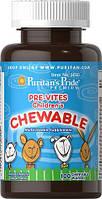 Витамины для детей PRE-VITES Children's Chewable100 жевательных таблеток