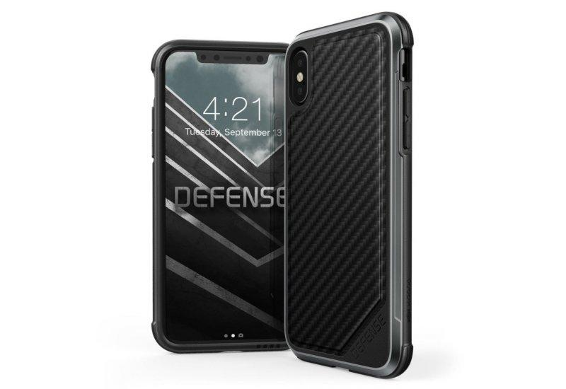 Чехол iPhone X X-Doria Defense Lux Carbon Black (AL1404)