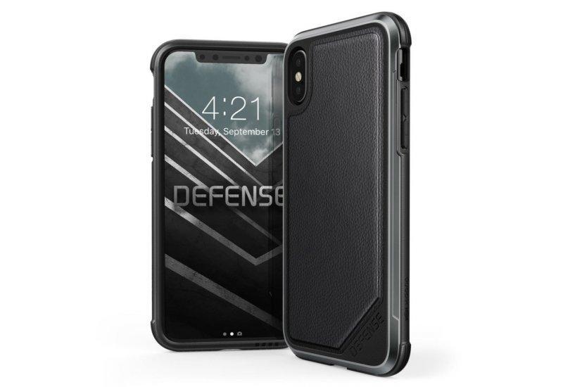 Чехол iPhone X X-Doria Defense Lux Leather Black (AL1403)