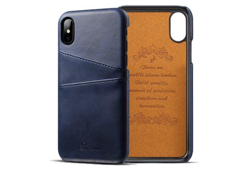 Чехол Juteni для iPhone X Blue (AL1389)