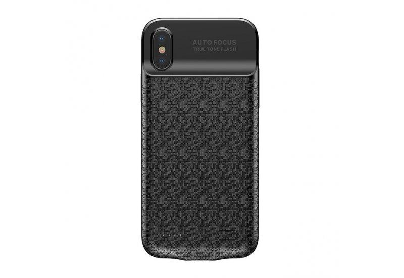 Чехол-аккумулятор Baseus Plaid Backpack Power Bank Case 3500mAh for iPhone X Black (AL1542)