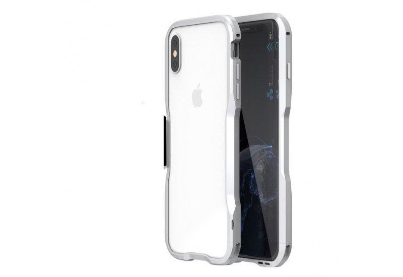 Бампер Luphie Ultra Luxury для iPhone X Silver (AL1498)