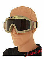 Солнцезащитные очки маска тактические  Revision TAN