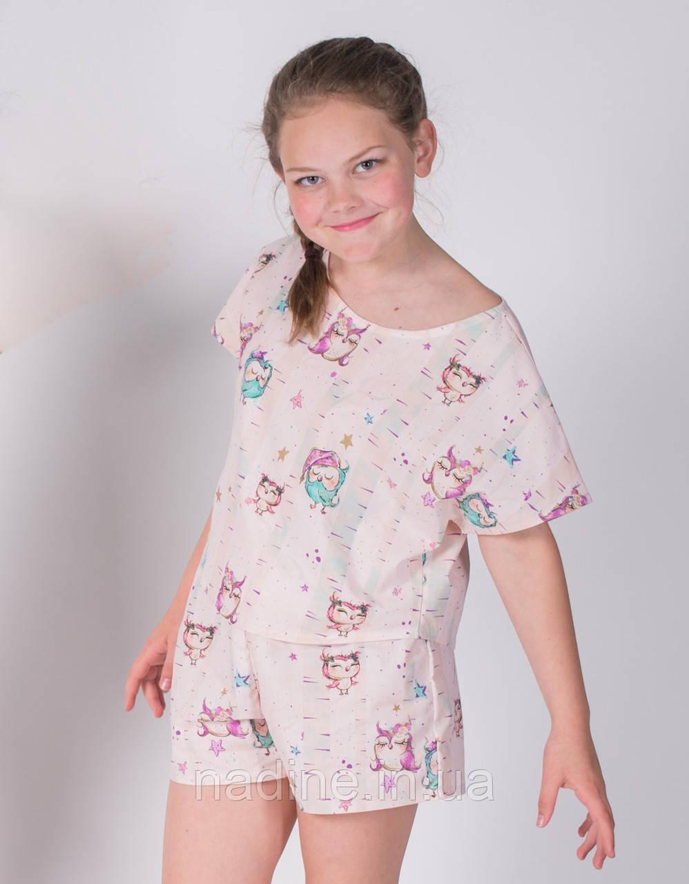 Пижама Совушка Eirena Nadine (783-64) 164/42, персиковый