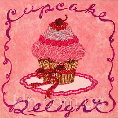 Наборы и схемы для вышивания бисером FLF-006 Розовое пирожное 20*20 Волшебная страна качественный