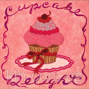 Набори та схеми для вишивання бісером FLF-006 Рожеве тістечко 20*20 Чарівна країна якісний