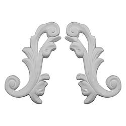 Гипсовая лепнина декоративный угол у-2 h120мм