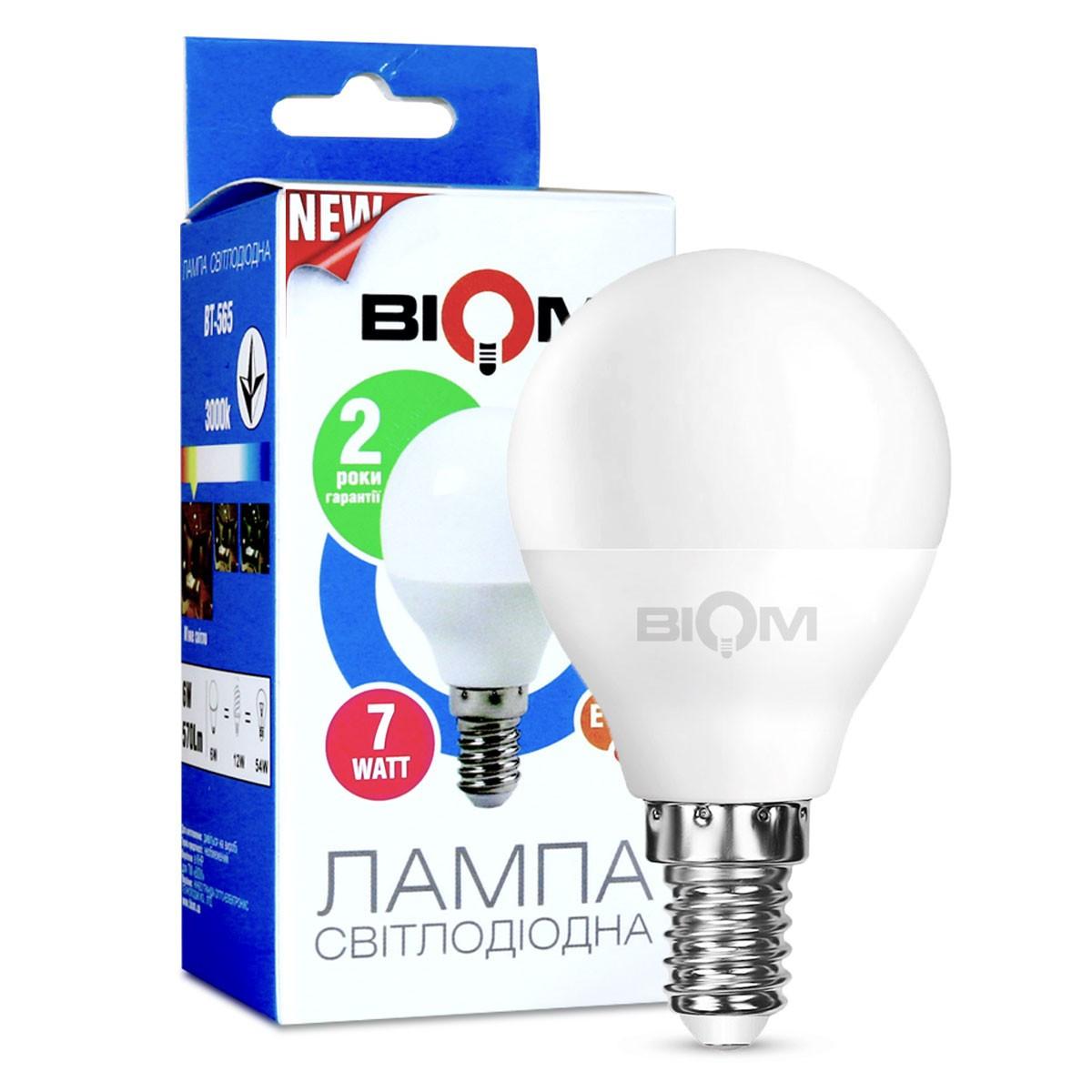 LED Лампа Biom G45 7W E14 4200K BT-566