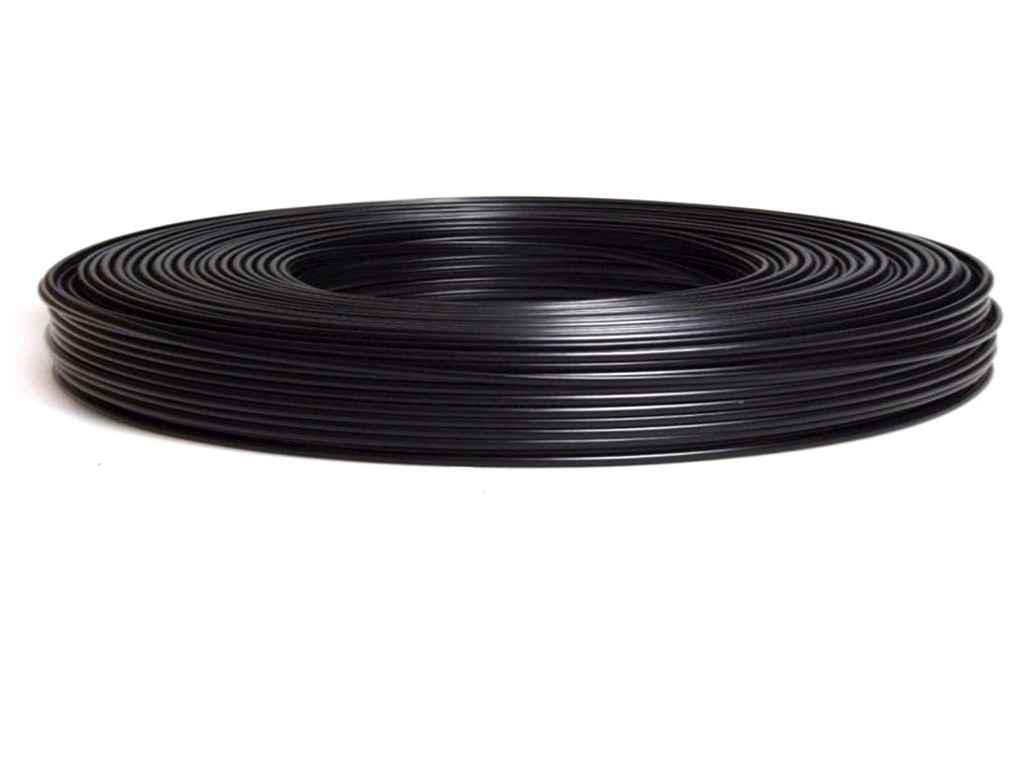 Кабель телевізійний чорний RG6U 1.02mm 48 жил 100 м (384260)