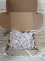 Коробка 205*205*125 мм крафт для подарка с белым наполнителем , для сувенира, для мыла, косметики, пряника