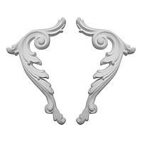 Гипсовая лепнина декоративный угол у-5 h150 мм