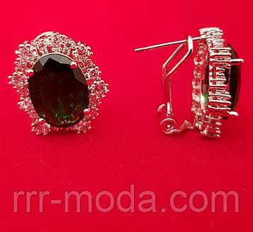 Бижутерия Swarovski серьги с крупными кристаллами .150