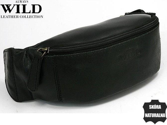 Кожаная сумка на пояс  Always Wild WB01SP black