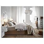 IKEA MALM Кровать высокая, 4 ящика, белый стаинедед дубовый шпон, (891.751.62), фото 2