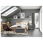 IKEA MALM Кровать высокая, 4 ящика, белый стаинедед дубовый шпон, (891.751.62), фото 3