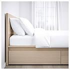 IKEA MALM Кровать высокая, 4 ящика, белый стаинедед дубовый шпон, (891.751.62), фото 5
